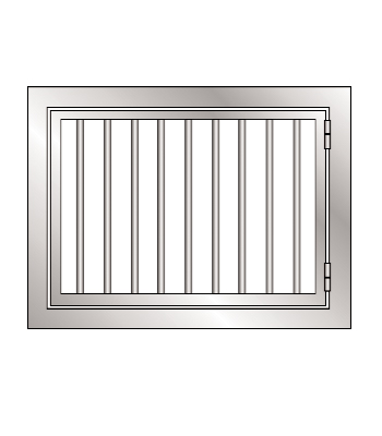 Hinged Grilled Window Frame